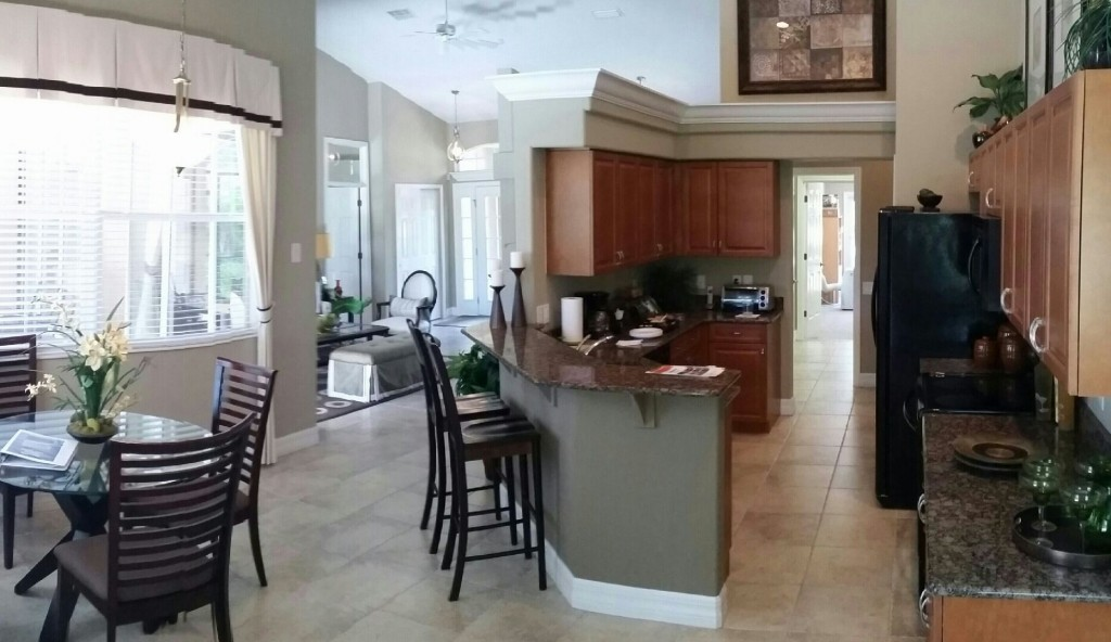 Inside the model house that our customers see when they come on tour to Sarasota Florida to check out our properties.