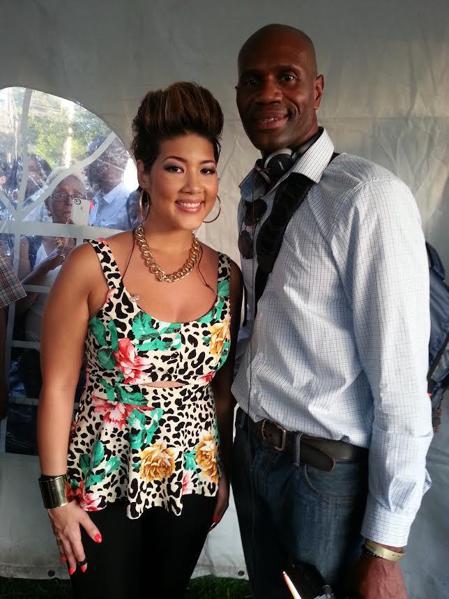 Mr. Miller and Voice winner Tessane Chin
