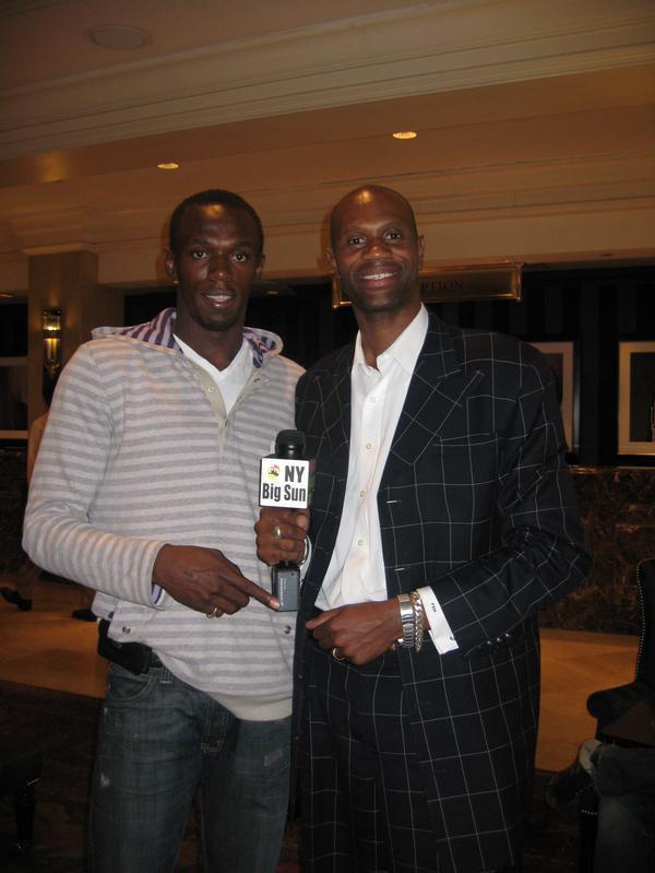 Real Estate Broker Phillip Miller and Olympic star Usain Bolt