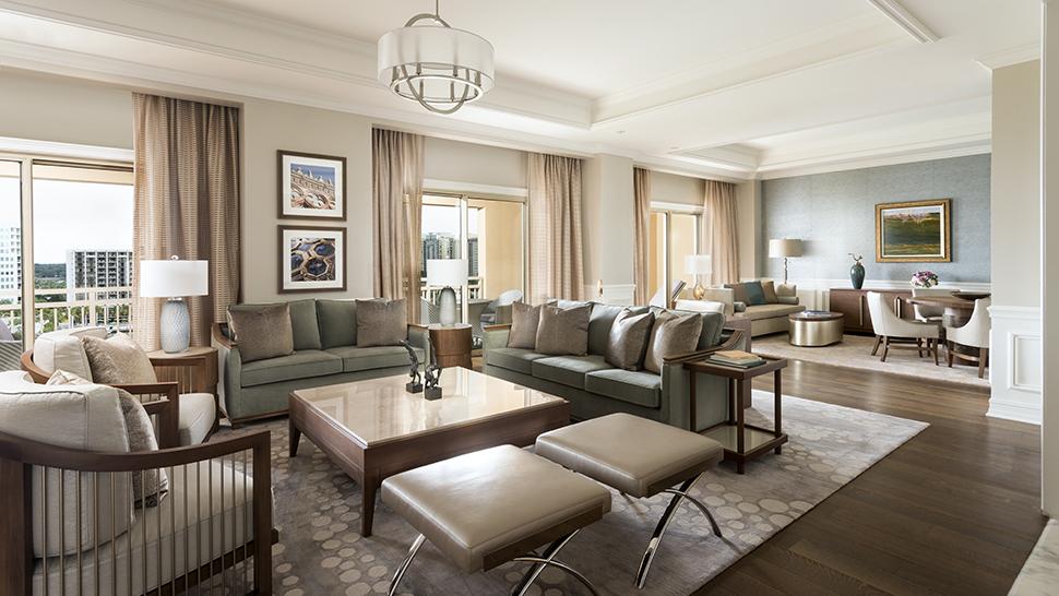 The Ritz-Carlton, Sarasota's Ritz-Carlton Suite Living Room (Credit: The Ritz-Carlton Hotel Company LLC)