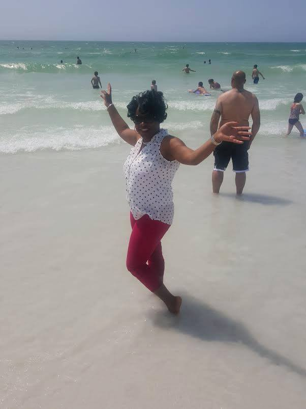 One of my customers that I took to Sarasota Florida to buy land is loving her visit at Siesta Key Siesta Key Sarasota by Florida Beach Trails.
