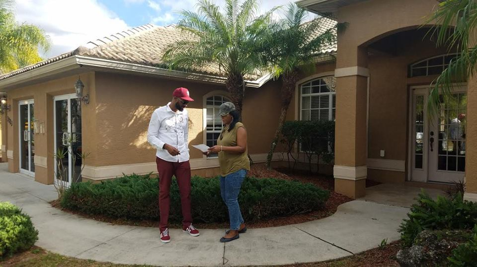 With another one of my customers yesterday that I took to Sarasota Florida who purchased Her QUARTER acre land and in a couple of years we will build her very own homes.