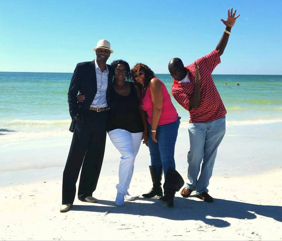 My Customers and I enjoying Siesta Key Beach in Sarasota Florida .