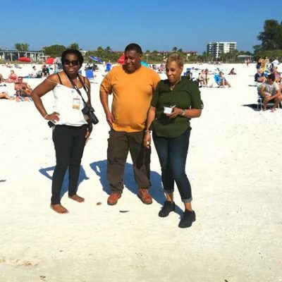 Some of my customers that I brought down to Sarasota Florida today .. They are loving Siesta Key Beach.