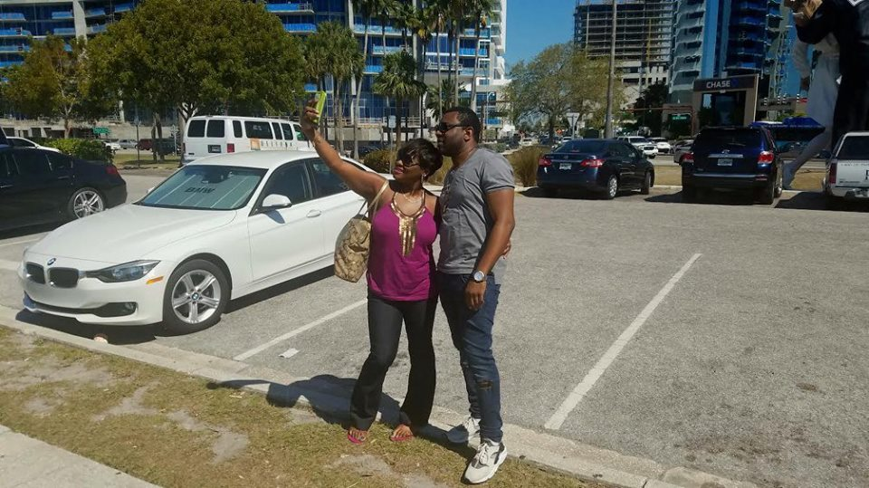 My customers taking a Selfie while in Sarasota after purchasing their quarter acre land.. CONGRATS .