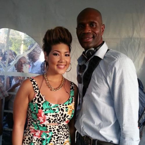 Mr. Miller and Voice winner Tessane Chin