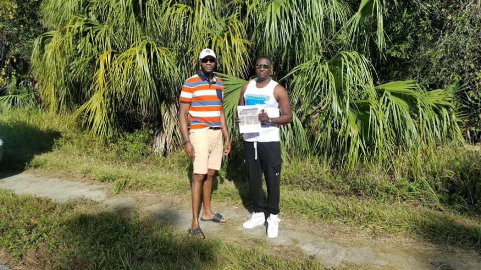 With my customer Ricardo Tate who came all the way from St. Mary Jamaica over the weekend to check out SARASOTA. He loved what he saw and he is now the proud owner of quarter acre of land he is standing in front off. He will continue with his land payments and when he has finished his payments DELTONA will build his home for him if he wants a home or if he wants to keep the land for investment he will own. Congrats mi Boss for trusting me and Deltona and taking the trip to see for yourself. He is back in Jamaica today ... CONGRATS again