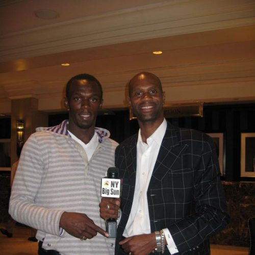 Real Estate Broker Phillip Miller and Olympic star Usain Bolt.