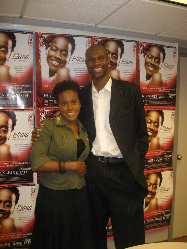 With reggae artist Etana